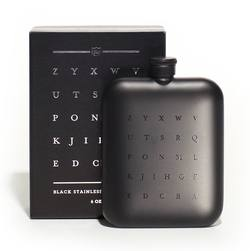 Buy Black stainless steel hip flask 6oz in NZ New Zealand.