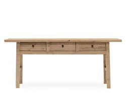 Buy Whitewash elm console 3-drawer in NZ New Zealand.