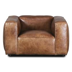 Aged leather Yale armchair