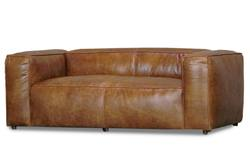 Buy Aged leather yale 3-seater sofa in NZ New Zealand.