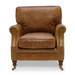 Princeton aged leather armchair aged tan