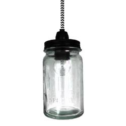Vintage jar pendant light