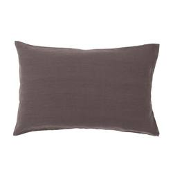 Pair of linen pillowcases pepper