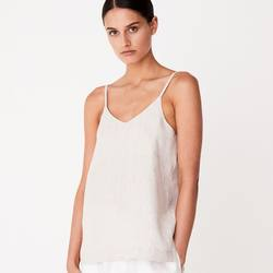 Assembly Label linen slip top oat marle