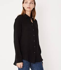 Assembly Label silk shirt black