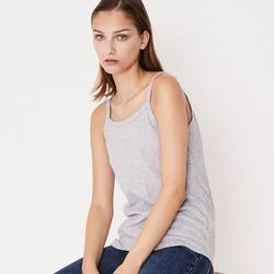 Assembly Label cotton singlet grey marle