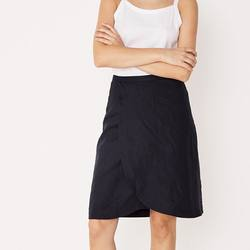 Assembly Label curved linen skirt navy