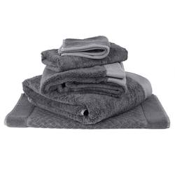 Bamboo cotton towel range charcoal