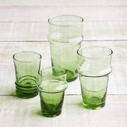 Buy Beldi recycled tea glass green in NZ New Zealand.