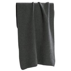 Knitted hand towel charcoal