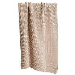 Knitted hand towel pink