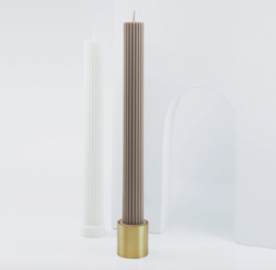 Column candle holder brass