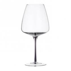 Smokey grey red wine glass
