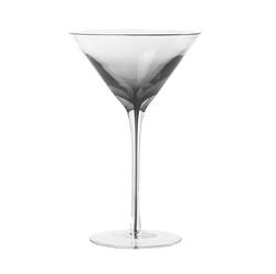 Smokey grey martini glass