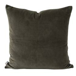 Cotton velvet cushion cover nori