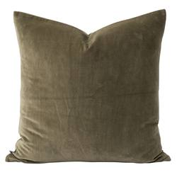 Cotton velvet cushion cover sage
