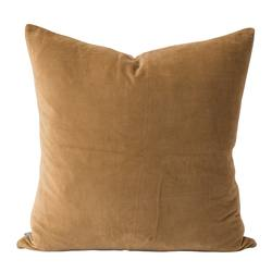 Cotton velvet cushion cover crumb