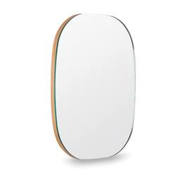 Buy Oval wall mirror natural oak in NZ New Zealand.