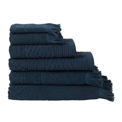 Buy Jacquard towel range ink blue in NZ New Zealand.