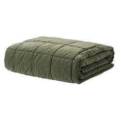 Buy Velvet quilted throw kale in NZ New Zealand.