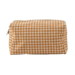 Gingham wash bag