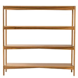 American oak shelving unit 155cm wide