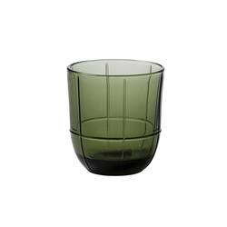Buy Grid glass tumbler olive in NZ New Zealand.