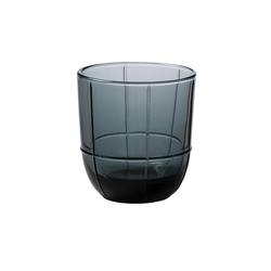 Buy Grid glass tumbler smoke grey in NZ New Zealand.