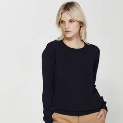 Cashmere crew neck knit