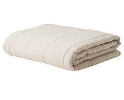 Buy Linen chambray quilted blanket in NZ New Zealand.