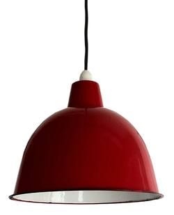 Cloche enamel lightshade