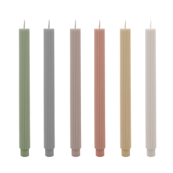Ridged column tapered candle