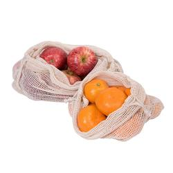 Cotton produce bags - set of 6