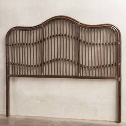 Rattan headboard brown wash
