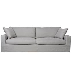 Buy Slip cover feather filled linen sofa 263cm long in NZ New Zealand.