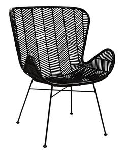 Buy Rattan wing chair black in NZ New Zealand.