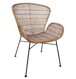 Buy Rattan wing chair natural in NZ New Zealand.