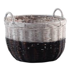 Buy Two tone rattan basket large in NZ New Zealand.