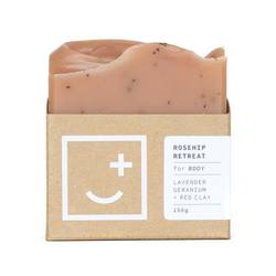 Buy Rosehip NZ made body soap in NZ New Zealand.