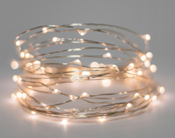 Battery fairy lights on wire 10m