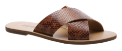 Buy Flat cross leather sandal cobra in NZ New Zealand.