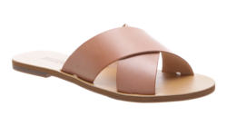 Buy Flat cross leather sandal rosa in NZ New Zealand.