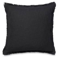 Fringed cotton cushion cover