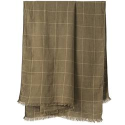 Buy Grid patterned linen throw in NZ New Zealand.