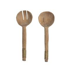 Buy Wood & copper salad servers in NZ New Zealand.