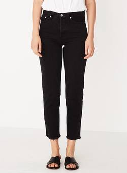 Assembly Label high waist jeans with fray edge