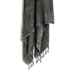 Buy Stonewashed Turkish towel charcoal in NZ New Zealand.