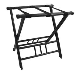 Rattan luggage rack black