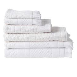Buy Jacquard towel range white in NZ New Zealand.