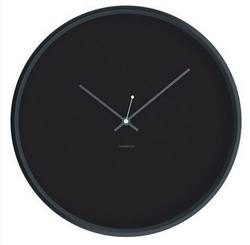 Buy Minimal black wall clock 30cm in NZ New Zealand.
